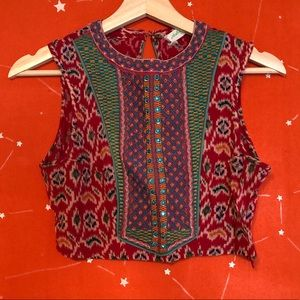 Magic Carpet Sari Croptop